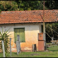 passeio na estrada ao lado da ferrovia Campinas - Jaguariúna /  na Estação Tanquinho