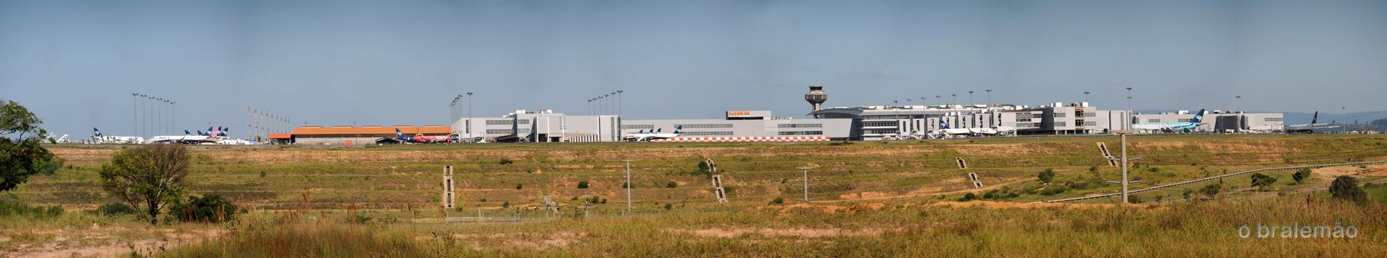 panorâmica do aeroporto Viracopos, Campinas