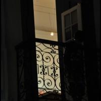 janela no centro histórico a noite, Paraty (RJ)