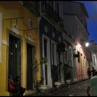 a noite em Pelourinho, Salvador, Bahia