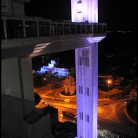 Elevador Lacerda, Pelourinho, Salvador, Bahia, a noite