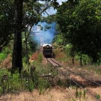 estrada ao lado da ferrovia Campinas - Jaguariúna /  perto de Jaguarúna
