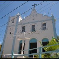 a igreja na vila de Morro de São Paulo, Bahia