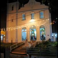 a igreja a noite em Morro de São Paulo, Bahia