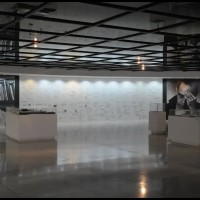 dentro do Museu Oscar Niemeyer em Curitiba