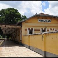 Campinas: Maria Fumaça, estação Anhumas - da Cia. Mogiana de Estradas de Ferro (1926-1971)