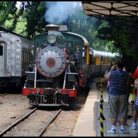 Campinas: a Maria Fumaça chegando na estação Anhumas