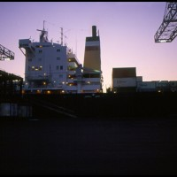 no porto de Norfolk, EUA 1981