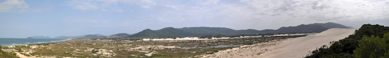 panoramica dunas na Praia de Joaquina, Florianópolis, Santa Catarina (41 Megapixel) 233cm x 35 cm