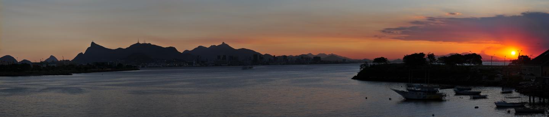 por de sol em Niteroi (27.07.2011) - 72 Megapixel - 260cm x 55cm