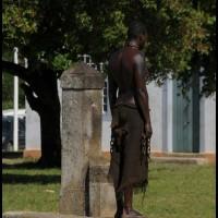escravo no Quartal da Fortaleza Patatiba, Paraty (RJ)