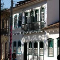 casa na Praça da Matriz no centro histórico, Paraty, Rio de Janeiro