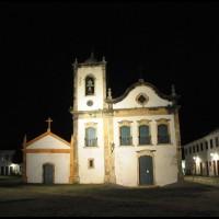 Igreja de Santa Rita a noite, Paraty, Rio de Janeiro