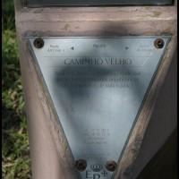 placa da Estrada Real, na estrada Paraty - Cunha